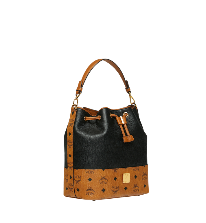 MCM Geonautic Kordelzug-Tasche aus Leder im Colorblock-Design Alternate View 2