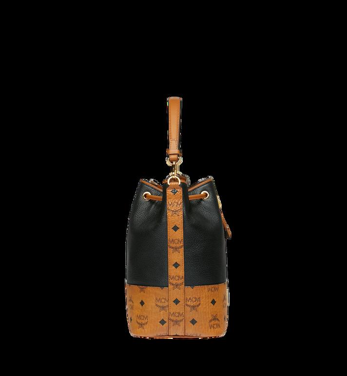 MCM Geonautic Kordelzug-Tasche aus Leder im Colorblock-Design Alternate View 3