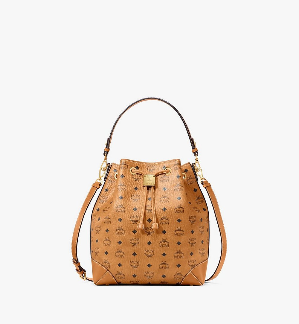 MCM Soft Berlin Drawstring Bag in Visetos Cognac MWDAABF01CO001 Alternate View 1