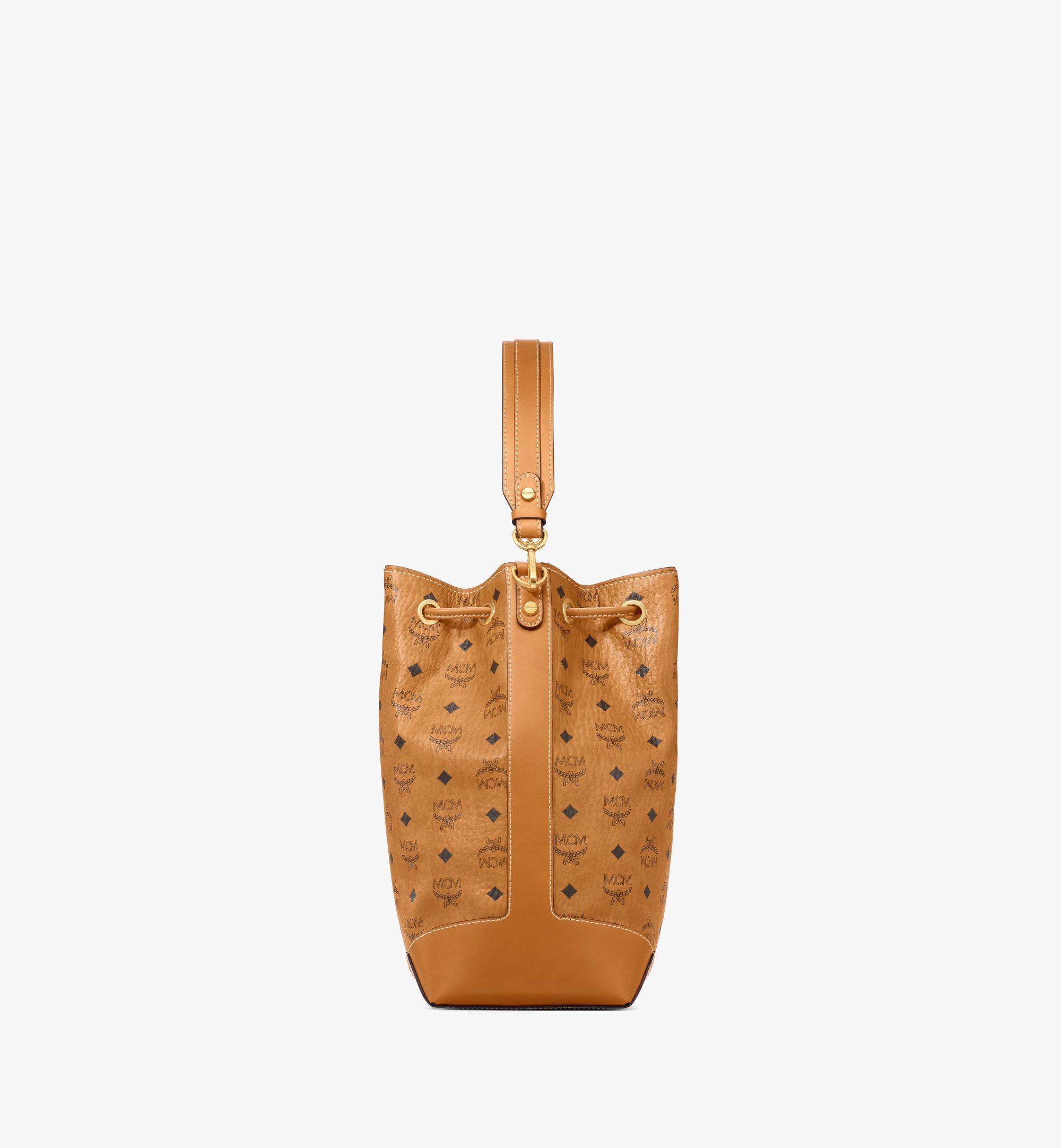 MCM Soft Berlin Drawstring Bag in Visetos Cognac MWDAABF01CO001 Alternate View 1