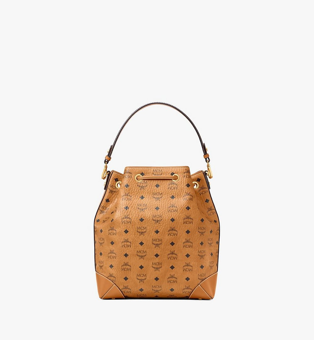 MCM Soft Berlin Drawstring Bag in Visetos Cognac MWDAABF01CO001 Alternate View 3