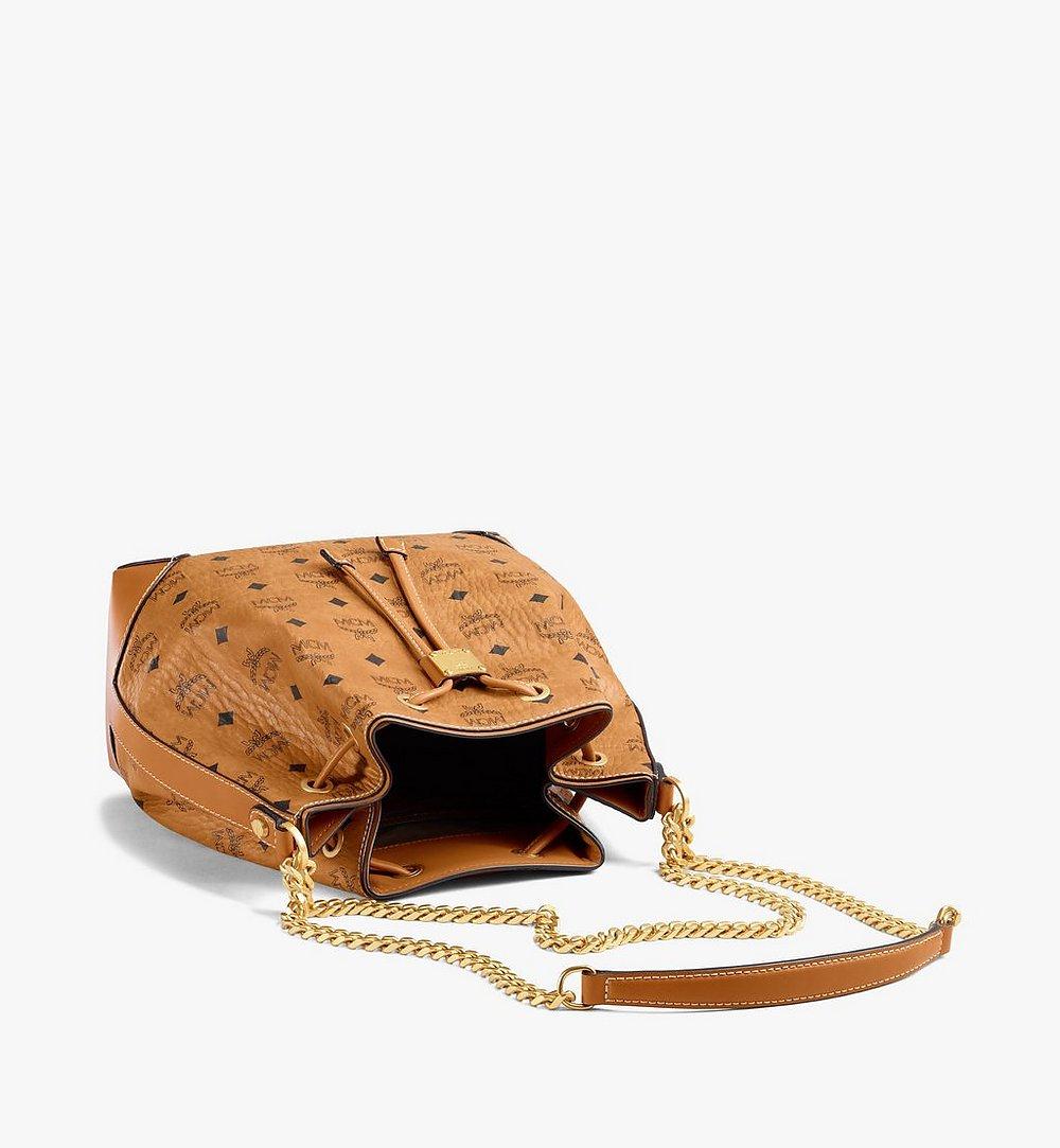 MCM Soft Berlin Drawstring Bag in Visetos Cognac MWDAABF02CO001 Alternate View 2