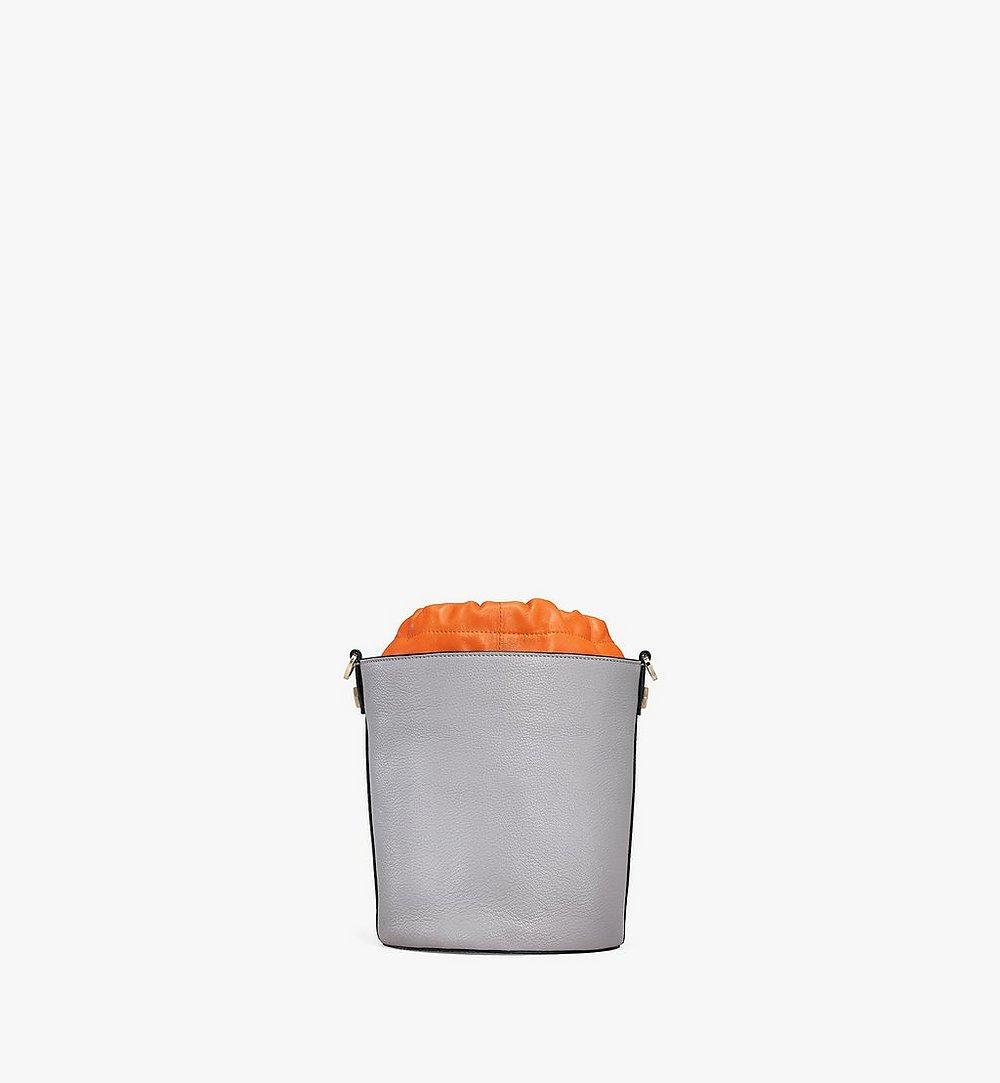 MCM Milano Drawstring Bag in Color Block Goatskin Leather Orange MWDAADA02O4001 Alternate View 3