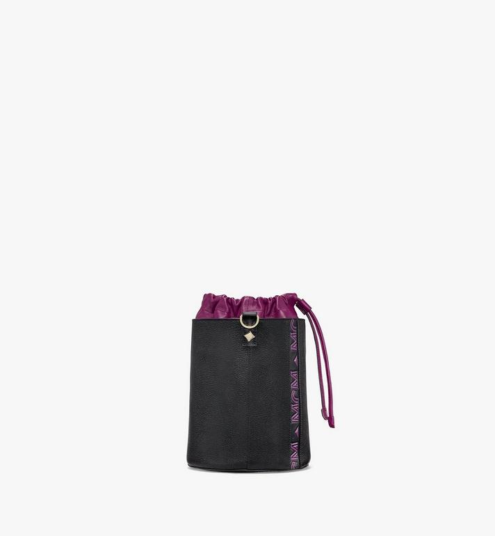 MCM Milano Drawstring Bag in Color Block Goatskin Leather Black MWDAADA02UZ001 Alternate View 2