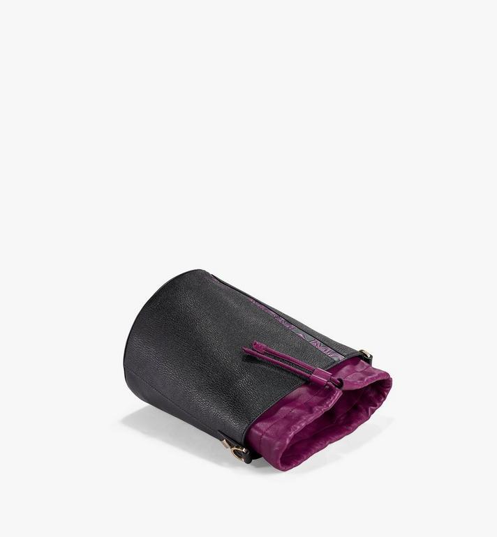MCM Milano Kordelzugtasche aus Ziegenleder in Colorblock Design Black MWDAADA02UZ001 Alternate View 3