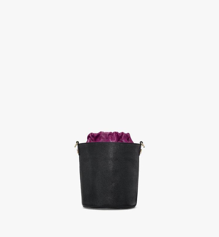MCM Milano Kordelzugtasche aus Ziegenleder in Colorblock Design Black MWDAADA02UZ001 Alternate View 4
