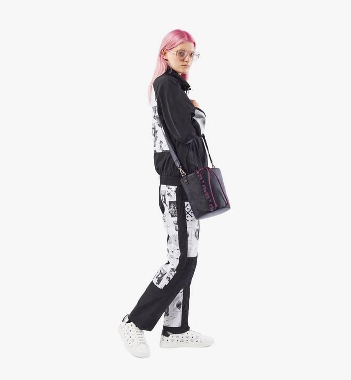 MCM Milano Kordelzugtasche aus Ziegenleder in Colorblock Design Black MWDAADA02UZ001 Alternate View 5
