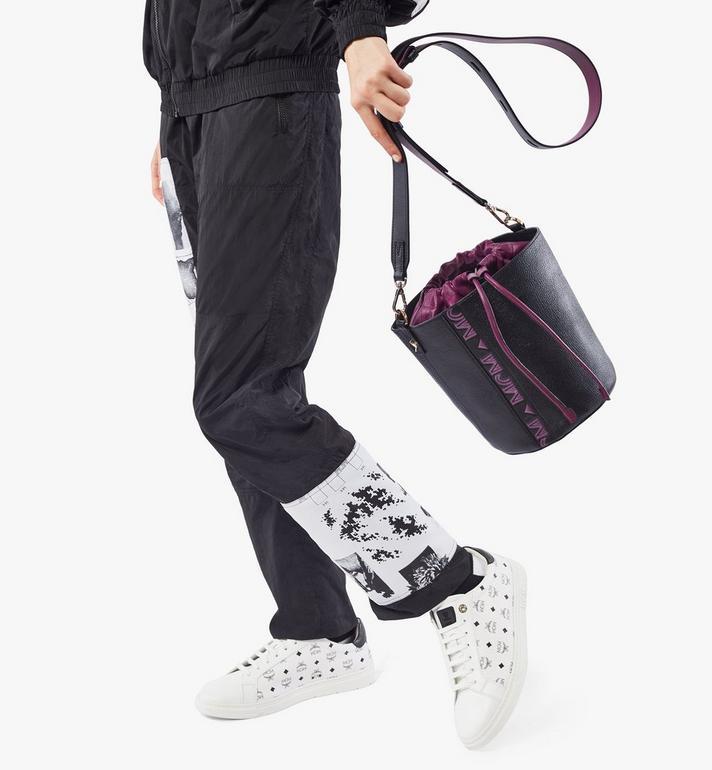 MCM Milano Kordelzugtasche aus Ziegenleder in Colorblock Design Black MWDAADA02UZ001 Alternate View 6