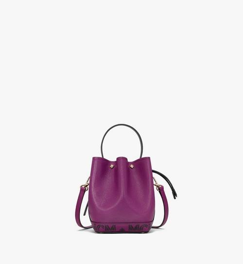 Milano Drawstring Bag in Color Block Goatskin Leather