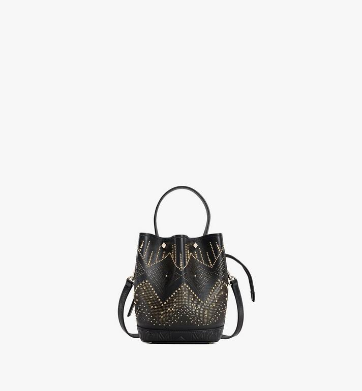 MCM Milano Lux Drawstring Bag in Studded Leather Alternate View