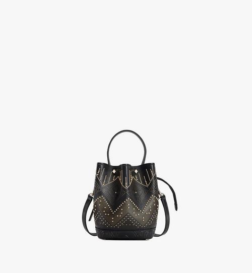 Milano Lux Tasche mit Kordelzug aus Leder mit Nieten