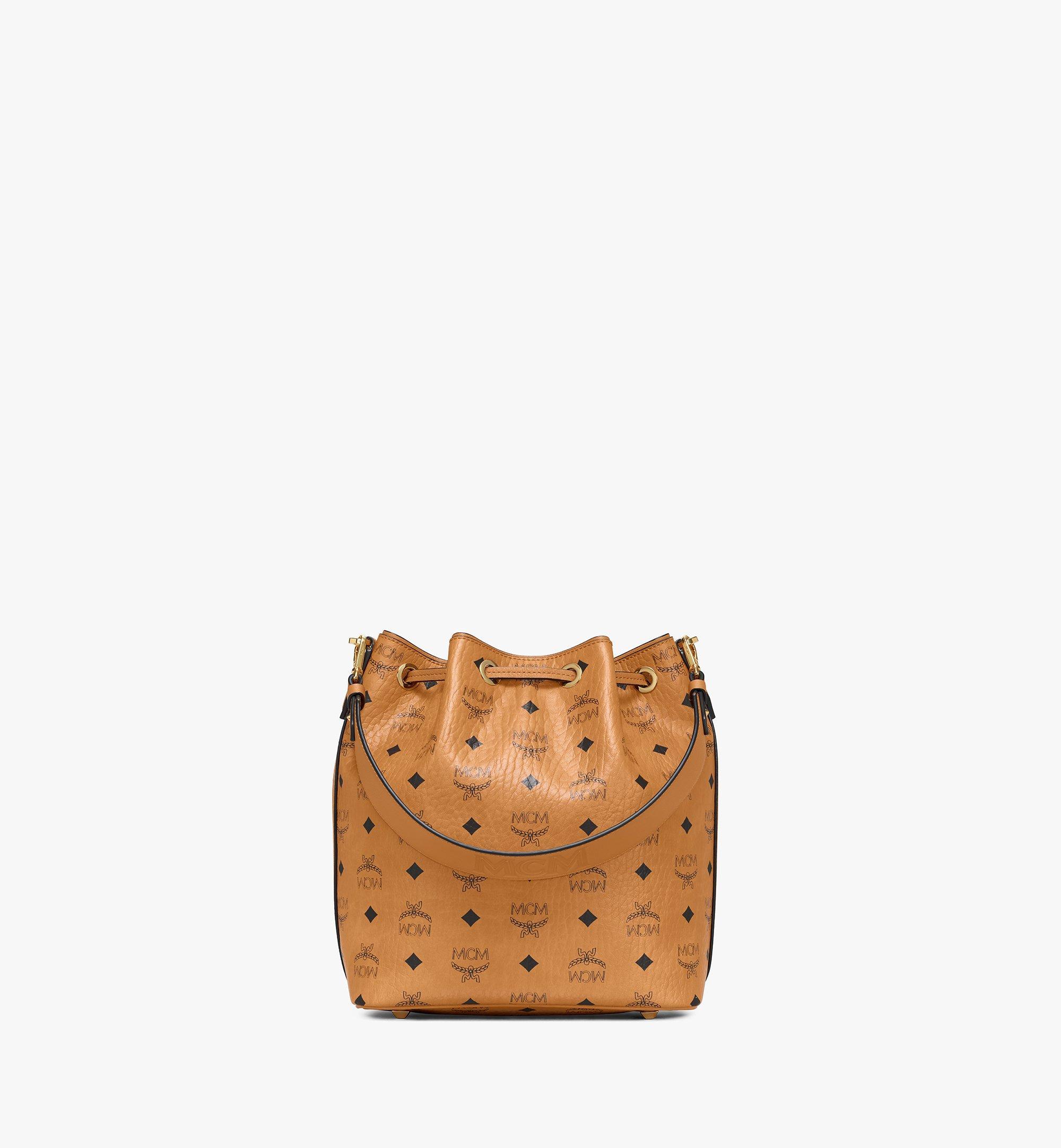 MCM Essential Drawstring Bag in Visetos Original Cognac MWDAASE02CO001 Alternate View 3