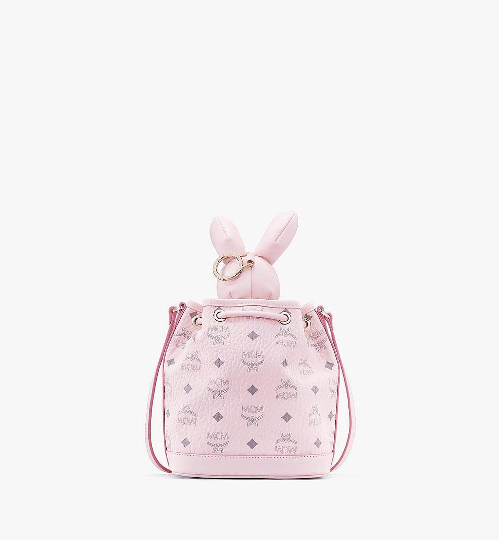 MCM MCM Zoo Rabbit Drawstring Bag in Visetos Pink MWDAAXL03QH001 Alternate View 2