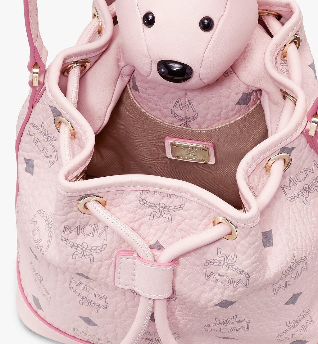 MCM MCM Zoo Rabbit Drawstring Bag in Visetos Pink MWDAAXL03QH001 Alternate View 3