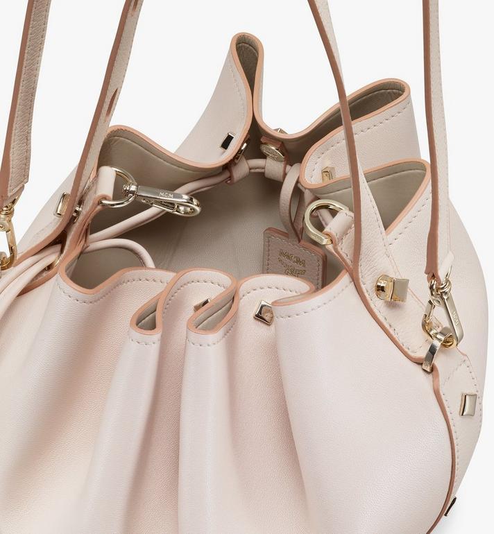 MCM Candy Drawstring Bag in Nappa Leather Pink MWDASCY03IH001 Alternate View 4