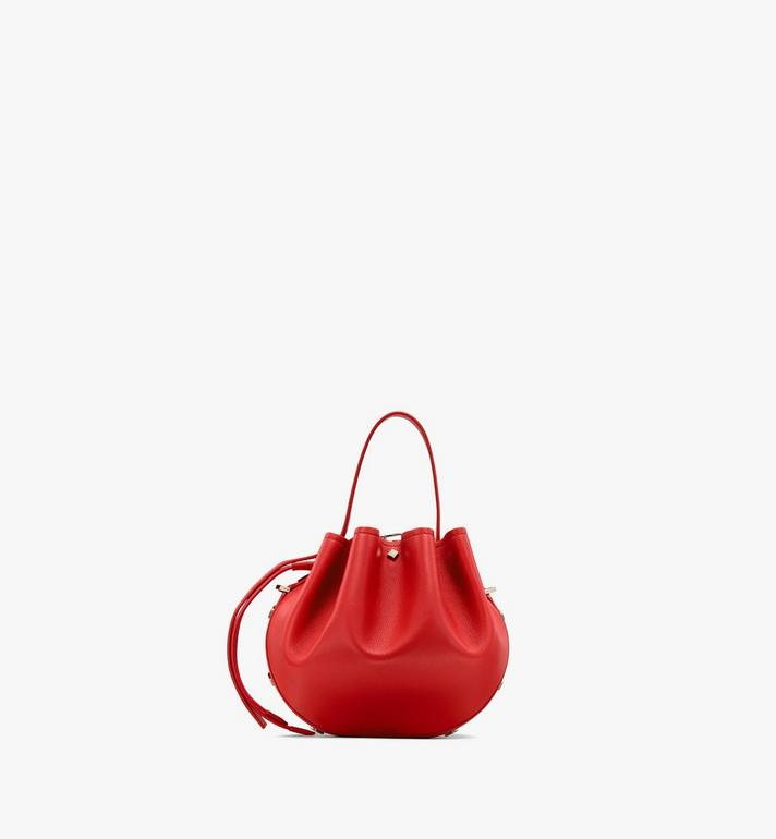 MCM Candy Drawstring Bag in Nappa Leather Red MWDASCY03R4001 Alternate View 3