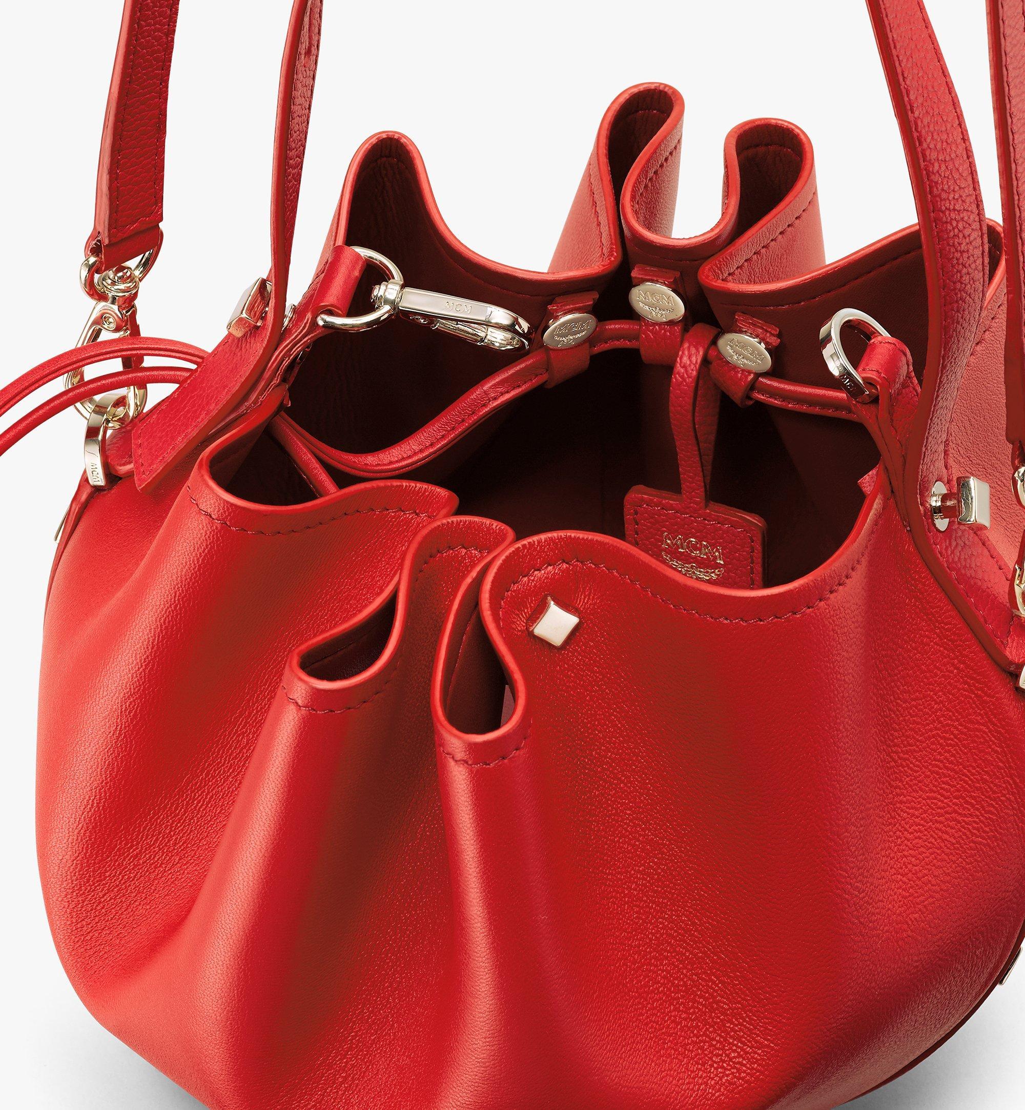 MCM 柔軟皮革糖果束口袋 Red MWDASCY03R4001 更多視圖 3