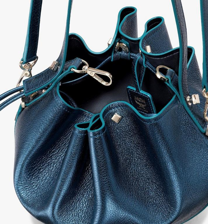 MCM Candy Shoulder Bag in Metallic Goat Leather Blue MWDASCY04JF001 Alternate View 4