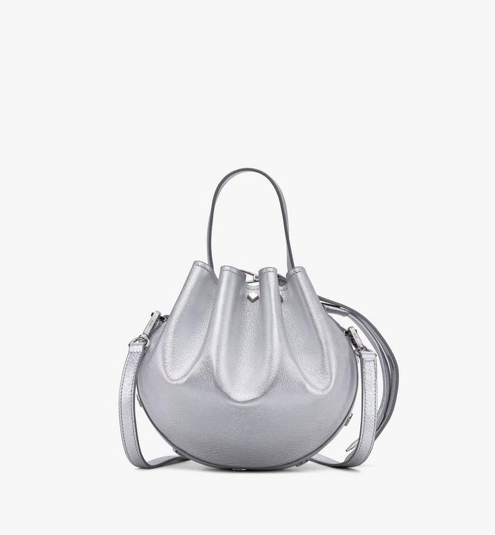MCM Candy Drawstring Bag in Metallic Goat Leather Alternate View