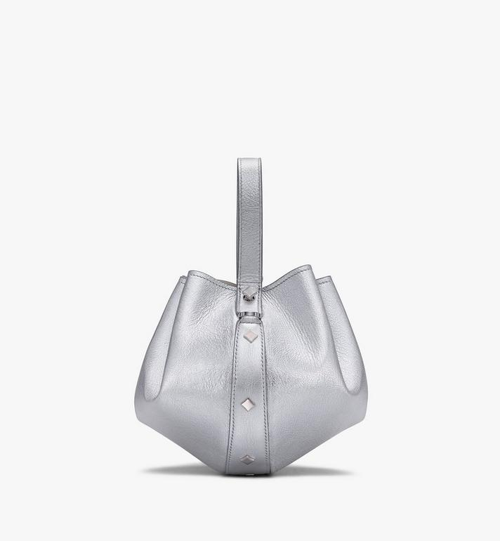 MCM Candy Shoulder Bag in Metallic Goat Leather Silver MWDASCY04SE001 Alternate View 2