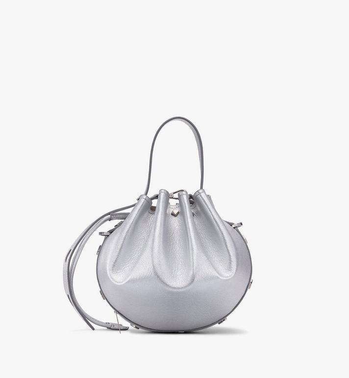 MCM Candy Shoulder Bag in Metallic Goat Leather Silver MWDASCY04SE001 Alternate View 3