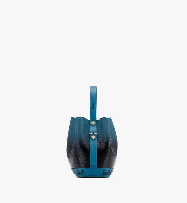 MCM Milano Drawstring Bag in Patent Leather Gradient Black MWDASDA01BK001 Alternate View 2