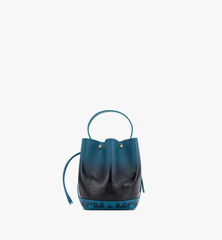 MCM Milano Beutel aus Lackleder mit Farbverlauf und Kordelzug Black MWDASDA01BK001 Alternate View 3