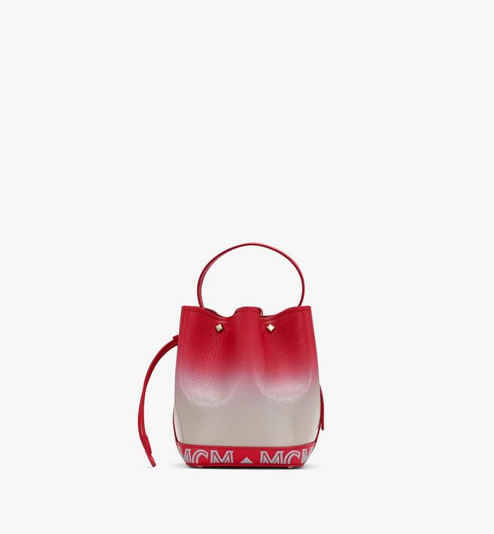 MCM Milano Drawstring Bag in Patent Leather Gradient Grey MWDASDA01FJ001 Alternate View 3