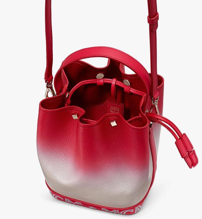 MCM Milano Drawstring Bag in Patent Leather Gradient Grey MWDASDA01FJ001 Alternate View 4