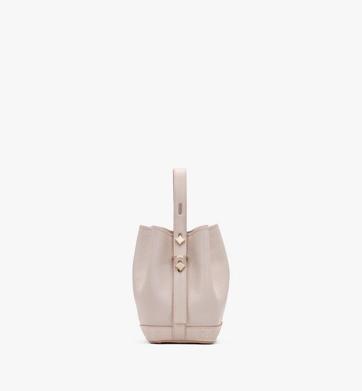 MCM Milano Drawstring Bag in Goatskin Leather Pink MWDASDA03IH001 Alternate View 2