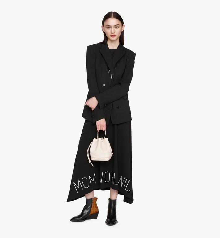 MCM Milano Drawstring Bag in Goatskin Leather Beige MWDASDA03IH001 Alternate View 5