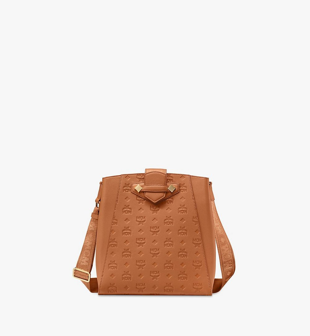 MCM Essential Bucket Bag in Monogram Leather Cognac MWDASSE04CO001 Alternate View 1