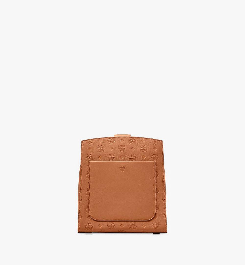 MCM Essential Bucket Bag in Monogram Leather Cognac MWDASSE04CO001 Alternate View 2