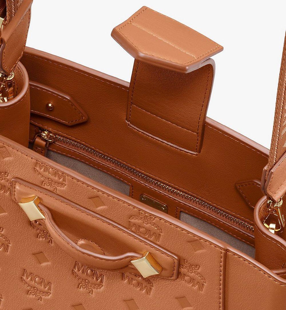 MCM Essential Bucket Bag in Monogram Leather Cognac MWDASSE04CO001 Alternate View 3