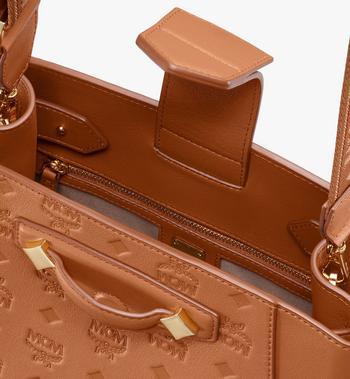 MCM Essential Bucket Bag in Monogram Leather Cognac MWDASSE04CO001 Alternate View 4