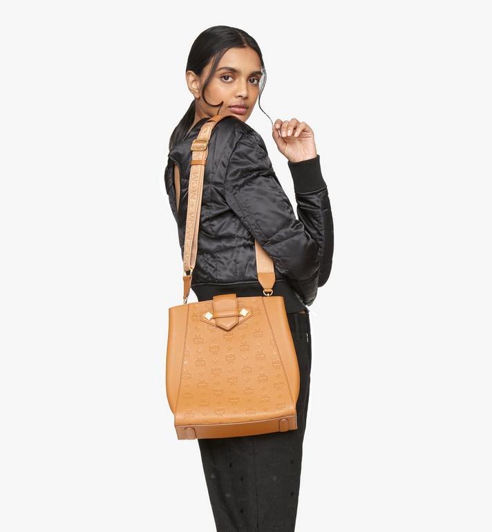 MCM Essential Bucket Bag in Monogram Leather Cognac MWDASSE04CO001 Alternate View 5