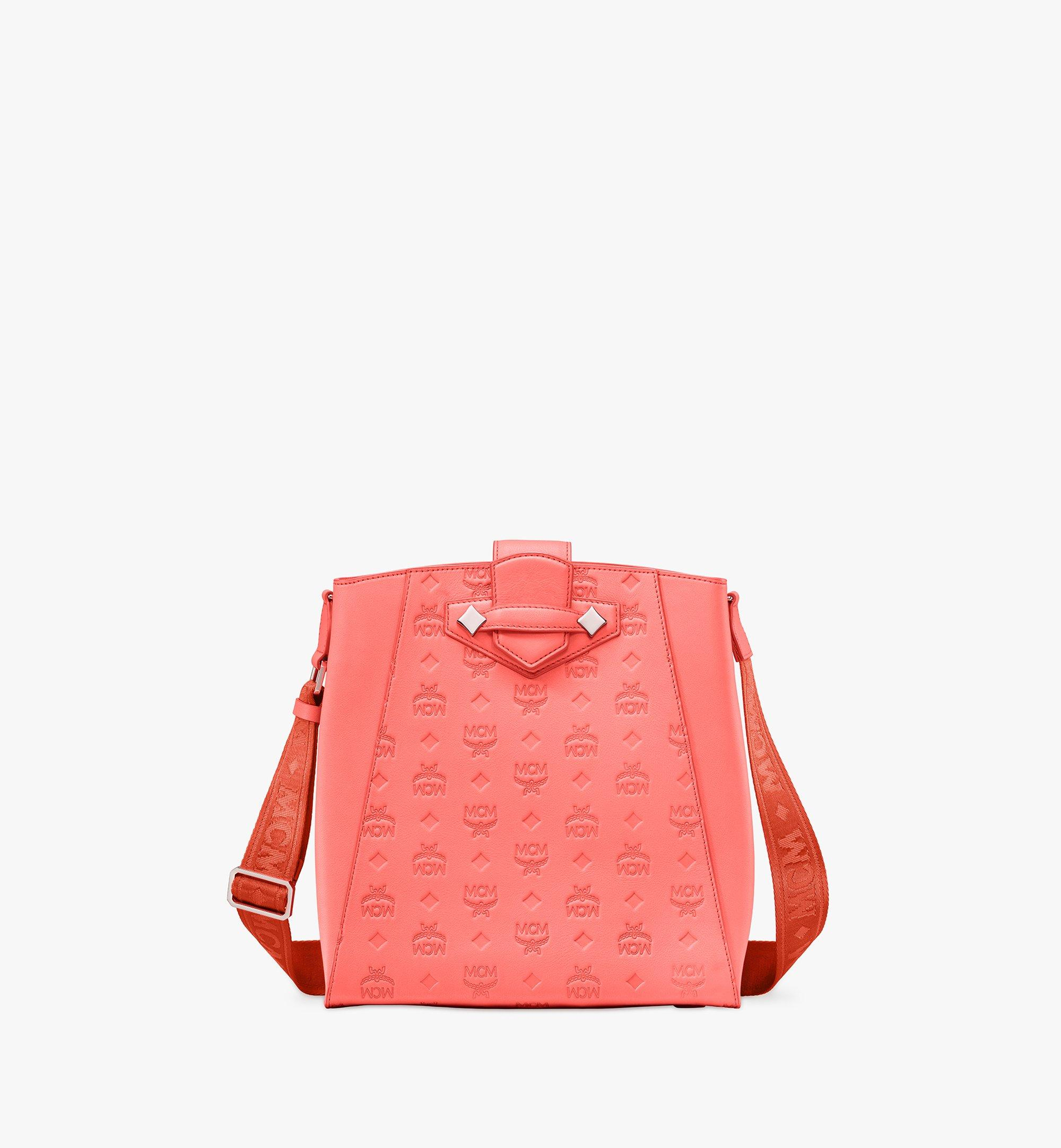 MCM Essential Bucket Bag in Monogram Leather Red MWDASSE04O3001 Alternate View 1