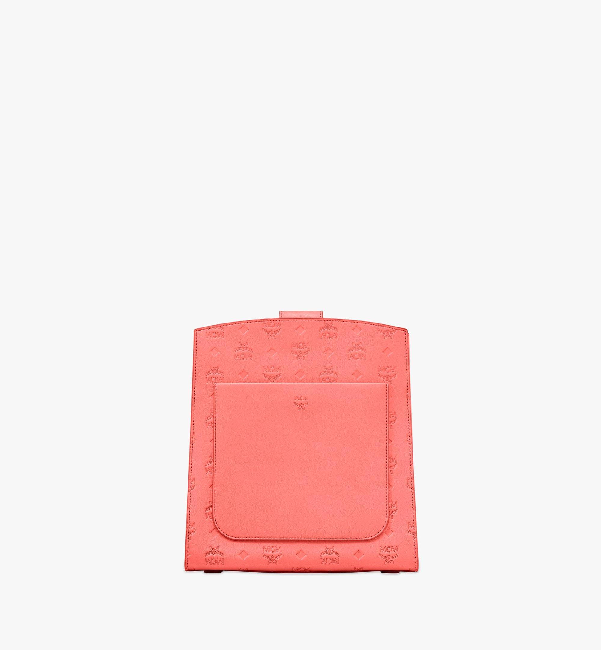 MCM Essential Bucket Bag in Monogram Leather Red MWDASSE04O3001 Alternate View 3
