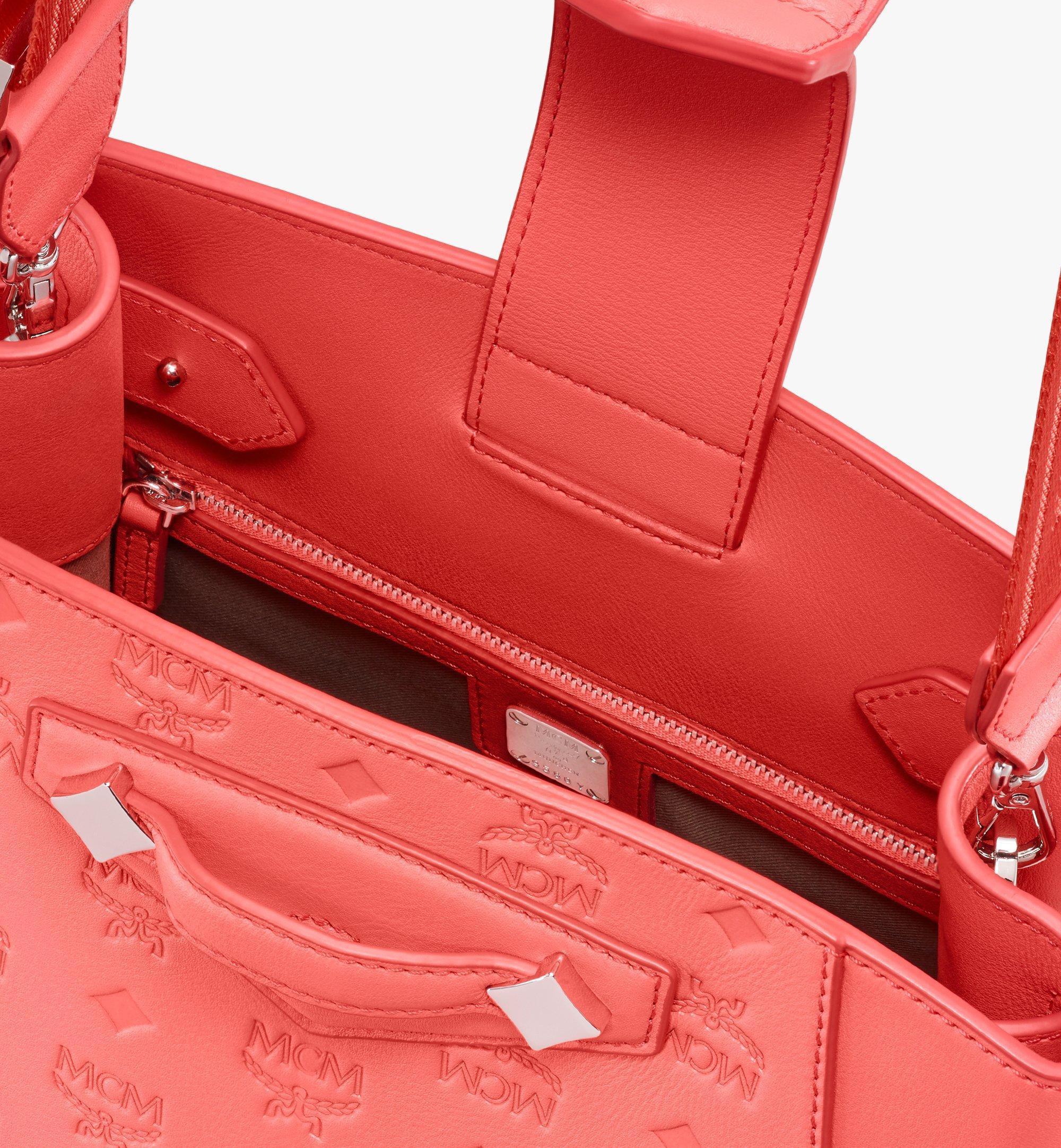 MCM Essential Bucket Bag in Monogram Leather Red MWDASSE04O3001 Alternate View 4