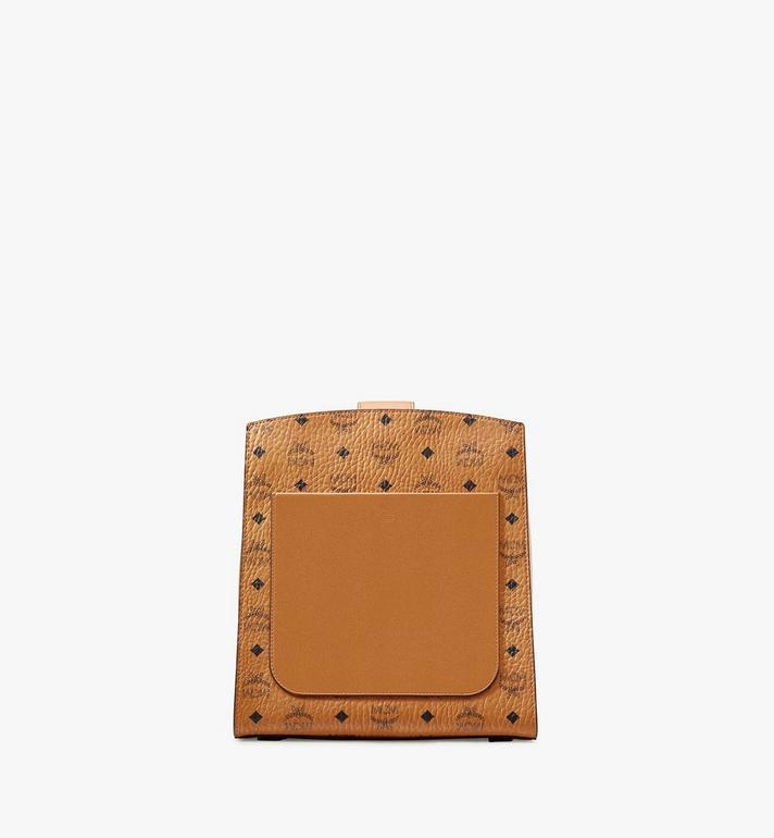 MCM Essential Bucket Bag in Visetos Original Cognac MWDASSE05CO001 Alternate View 3