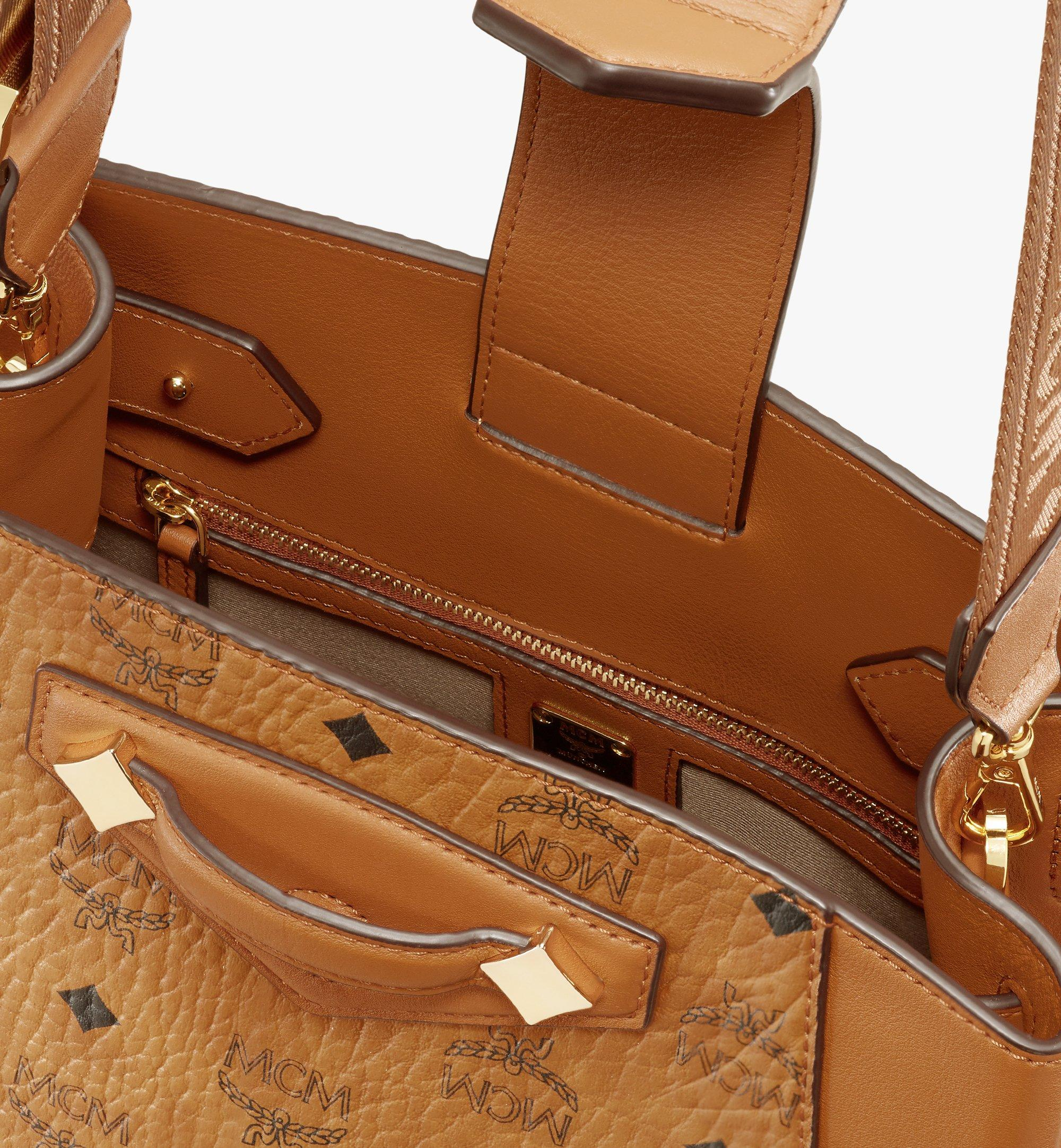 MCM Essential Bucket Bag in Visetos Original Cognac MWDASSE05CO001 Alternate View 4