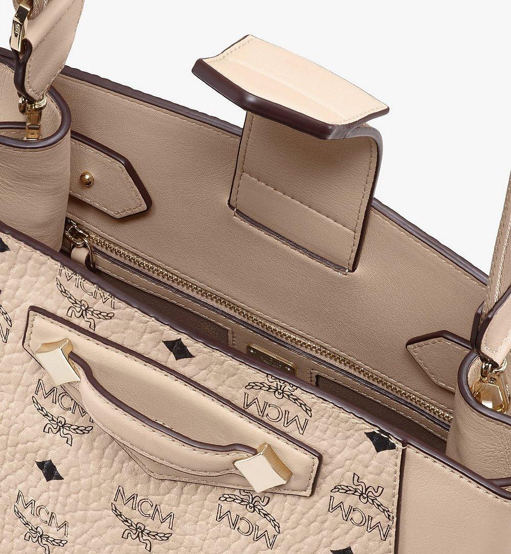 MCM Essential Bucket Bag in Visetos Original Beige MWDASSE05IG001 Alternate View 3