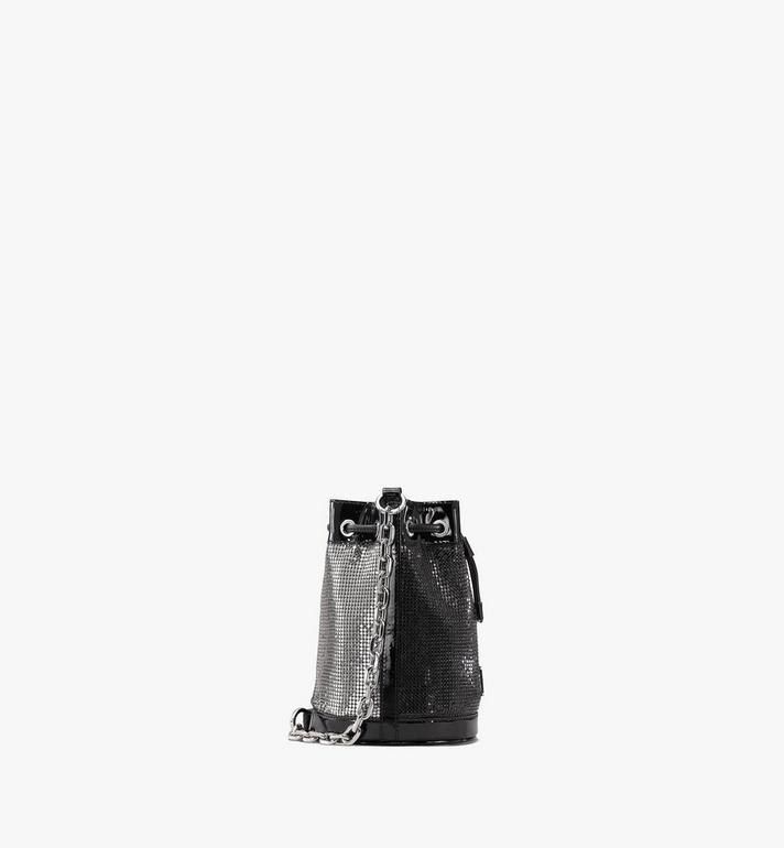 MCM Essential Disco Drawstring Bag Black MWDASSE06BK001 Alternate View 2
