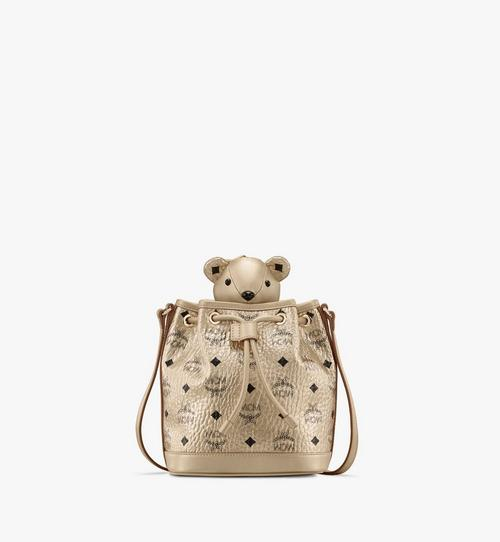 MCM Zoo Bear Drawstring Bag in Visetos