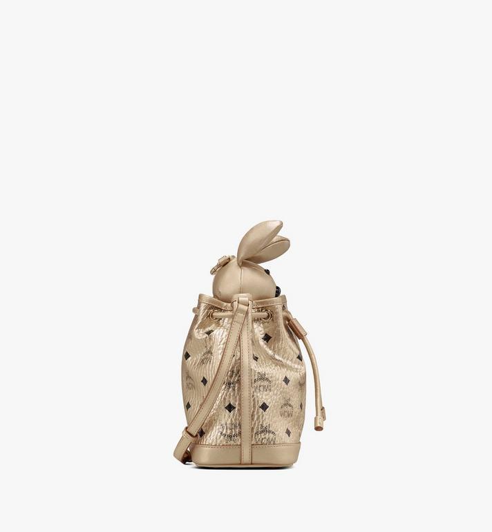 MCM MCM Zoo Rabbit Drawstring Bag in Visetos Gold MWDASXL03T1001 Alternate View 2