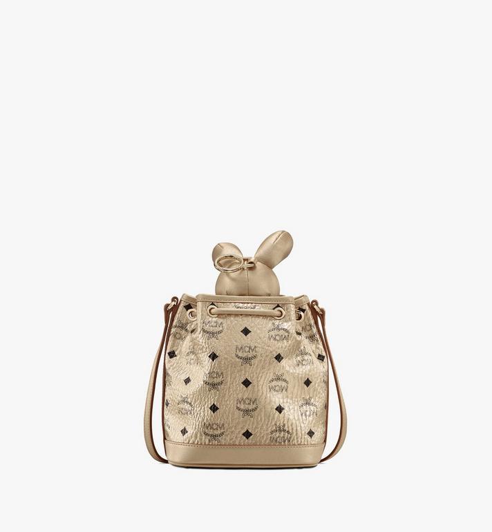 MCM MCM Zoo Rabbit Drawstring Bag in Visetos Gold MWDASXL03T1001 Alternate View 3