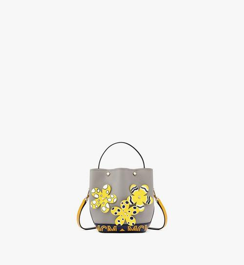 Upcycling Project Flower Milano Drawstring Bag in Park Ave Leather