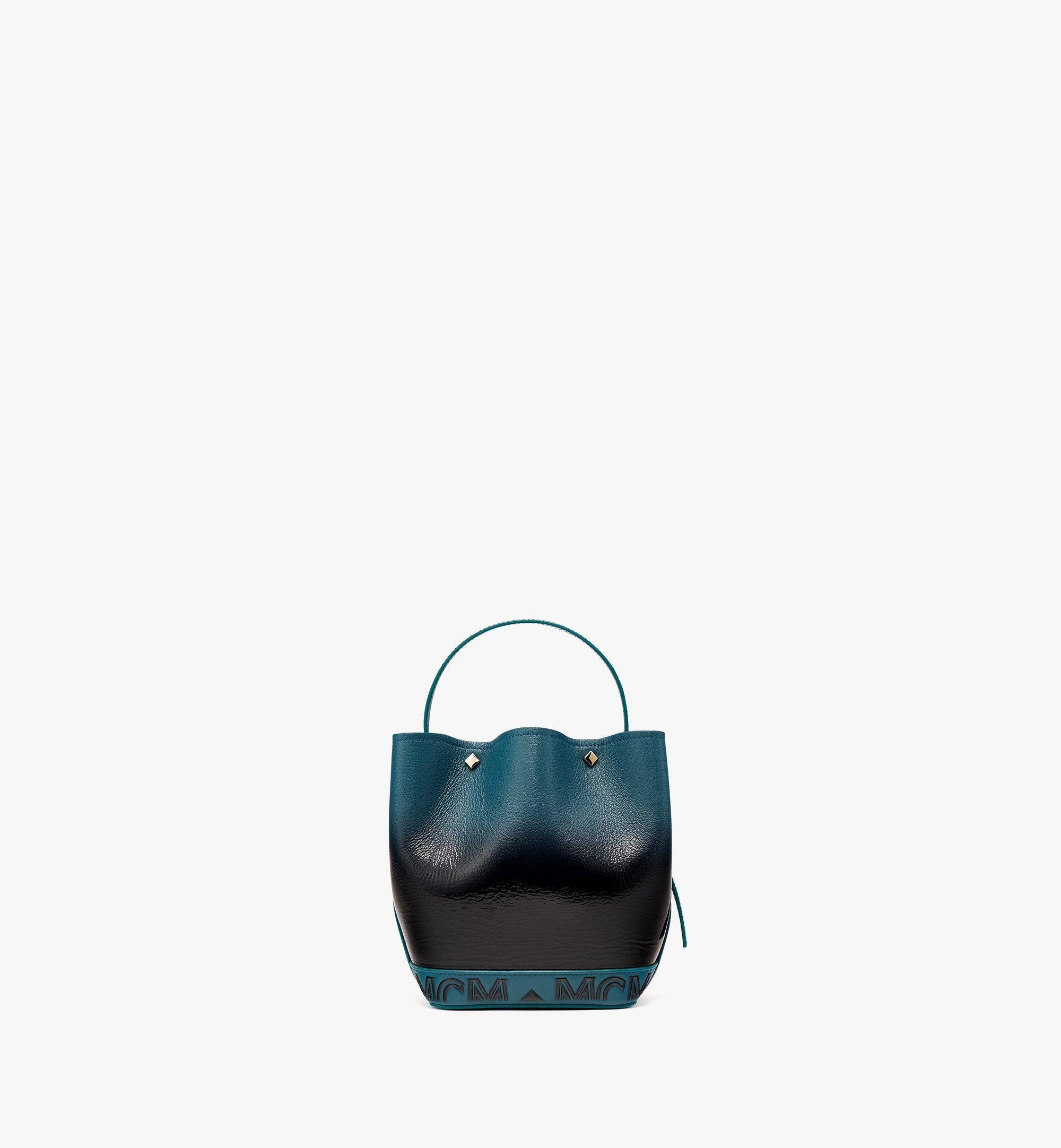 MCM Upcycling Project Flower Milano Drawstring Bag in Goatskin Leather Black MWDBAUP02BK001 Alternate View 3