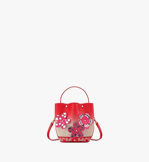 Upcycling Project FlowerMilano Tasche mit Kordelzug aus Ziegenleder