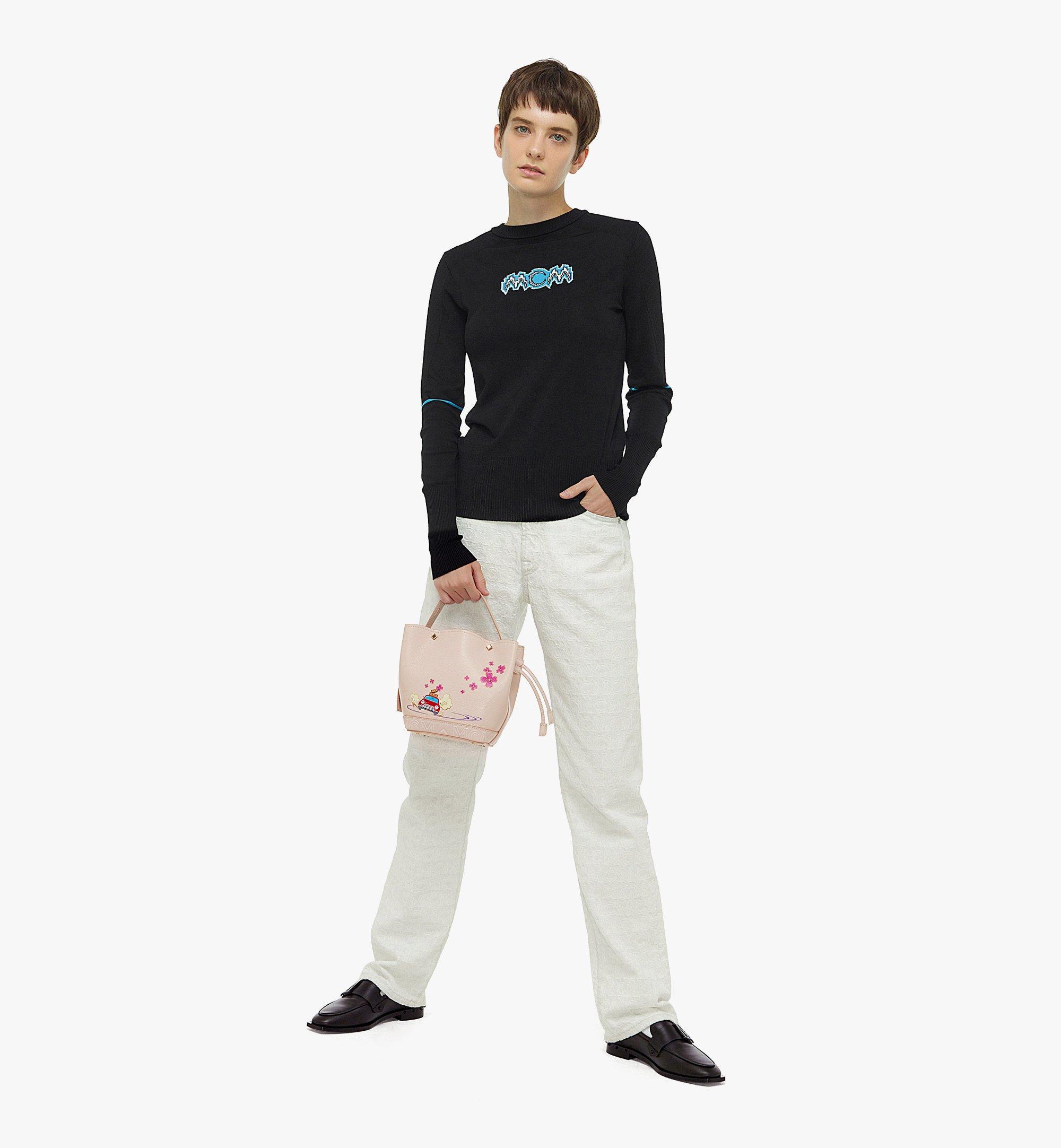 MCM MCM x HYUN-WOONG PARK Milano Drawstring Bag Pink MWDBSUP01IH001 Alternate View 3